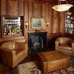Leather seated living room | Cardoso Electrical Services